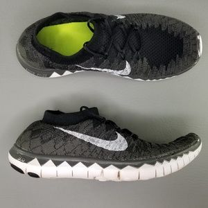 Nike Free 3.0 Running Shoes Womens 7 Gray Black